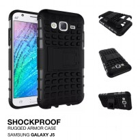 Samsung Galaxy J5 2015 Rugged Shockproof Armor Hybrid Hard Case & Soft Case - Hitam