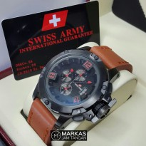 Jam Tangan Pria Swiss Army Chronograph model AC-6295 Leather ORIGINAL