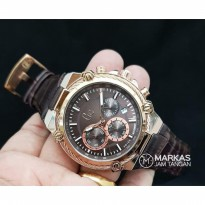 Jam Tangan Pria Gc Cable Force Chronograph Leather Watch