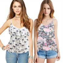 Women Branded Sleeveless Tops - Branded Cami