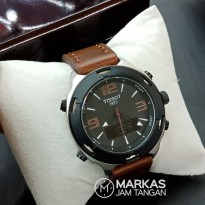 Jam Tangan Pria Tissot Classic Double Time Leather Watch