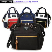[3 Ways Bag] Atdiva Tas Ransel Selempang Simple Casual Multifungsi