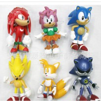 [globalbuy] Sonic 6pieces/lot 6cm pvc Sonic the super sound rat sonic youth plastic doll h/3174640