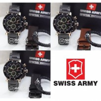 Jam Tangan Pria Swiss Army Special Edition Chronograph S.Steel Set