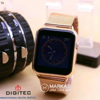 Jam Tangan Digitec DG-3059 Digital Touch Screen Sand S.Steel ORIGINAL