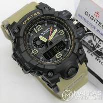 Jam Tangan Pria Digitec DG-2093 Double Time Rubber ORIGINAL