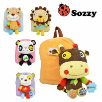 Sozzy Animal Backpack + Toy / Tas Anak anak