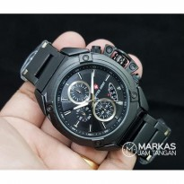 Jam Tangan Pria Swiss Army Chronograph Stainless Steel Men Watch
