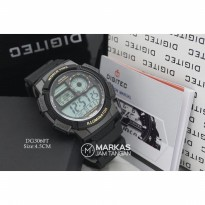 Jam Tangan Pria Digitec DG-3060 World Time Digital Rubber ORIGINAL