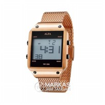 Jam Tangan ALFA Digital Screen Sand Stainless Steel ORIGINAL