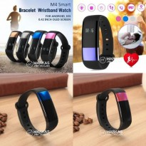 Jam Tangan Pria Wanita Smart Watch M4 Digital Rubber ORIGINAL