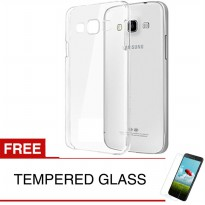 Case for Samsung Galaxy J7 Core / SM-J701 - Clear + Gratis Tempered Glass - Ultra Thin Soft Case