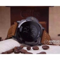 Jam Tangan Pria Luminor Panerai Firenze Digital Leather Watch.