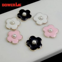 [globalbuy] DOWER ME brand Mini Flower 3D Alloy Stickers for Phone DIY Decoration 3D Mobil/5424814