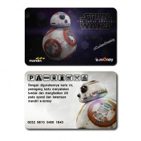 kartu mandiri emoney etoll star wars bb8 edition