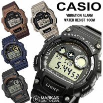 Jam Tangan Pria Casio W-735H / 736H Digital Rubber ORIGINAL