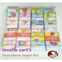 Jumper Carter 5in1 Lovelle Cart's Bodysuit tangan pendek Baju Bayi