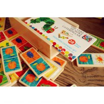 wooden domino mainan kayu edukasi anak domino very hungry catterpillar