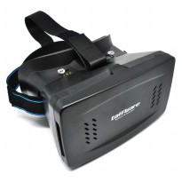 Cardboard VR Box Head Mount Second Generation 3D Virtual Reality untuk Smartphone Android - Black