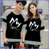 Baju Hoodie Couple Sweater Kaos Pasangan Kopel Kapel Kembar Murah LP MY LOVE