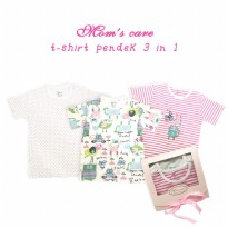 T-shirt Pendek 3in1 Girl Mom's Care Animal Line