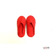 Cotton Home Slipper Red Dots Pattern S-M-L / Sandal Selop Rumah Kain Katun