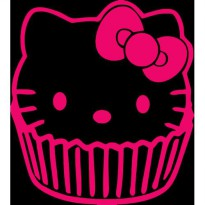 Sticker Mobil Cup Cake Hello Kitty