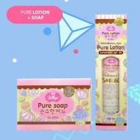 [SOAP+LOTION] Paket SOAP+LOTION Jellys Pure Thailand / Original 100%