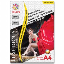 Kertas Foto - SUN Professional Silk Photo Paper 265 A4 CANVAS Texture