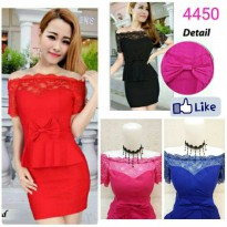 Dress midi brukat wanita Sunny import