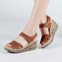 SANDAL WEDGES ZR01 TAN