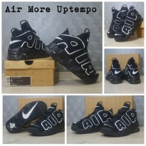 Sepatu Basket Sneaker nike Air More Uptempo - Black (airmore)