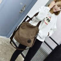 Import Canvas Shoulder Bag [Code : NATASHA] / Tas Kanvas Bahu Impor