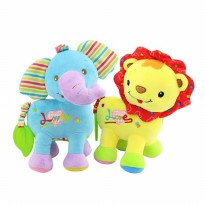 Happy Monkey Teether Rattle and Mirror Animal Toy