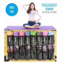 Matras Yoga FlexFit 6mm + BAG / Yoga Mat Anti-Slip Senam, Gym, Sport