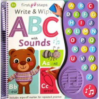 [HelloPandaBooks] First Steps Write & Wipe ABC with Sounds includes wipe-off marker