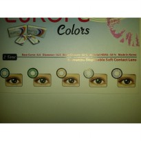 Softlens Warna Minus Tinggi Europa Colors - Grey