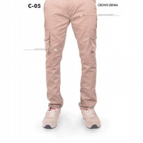 [Crows Denim] Celana Cargo Slim Fit C05