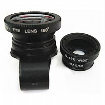 Lesung Universal Lens Kit Fisheye 3 in 1 for Smartphone - LX-P301