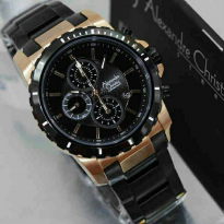 Jam Tangan Pria Alexandre Christie AC-6141 Black Gold Original//Best Seller