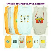 KAZEL V-NECK JUMPER BAYI MOTIF 6IN1 - TRAVEL EDITION