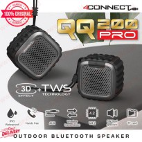 Speaker Bluetooth Waterproof 4Connect QQ200 PRO TWS with SD Card AUX - One Pieces