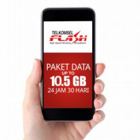 Telkomsel FLASH Paket Data up to 10.5 GB 24 Jam 30 Hari