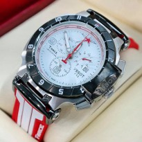 Jam Tangan Tissot T-Race Moto Gp Sport Rubber White Red For Man Limited