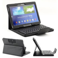 [globalbuy] Bluetooth Keyboard +PU Leather Cover Protective Smart Case For Samsung Galaxy /4159373