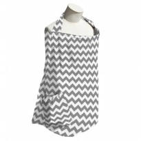Planet Wise Nursing Cover Grey Chevron