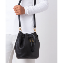 Authentic Coach Elle Drawstring in Pebbled Leather