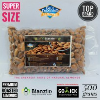 Premium Blue Diamond - Roasted Almond (SUPER SIZE) - 500 gram (Kacang Almond Panggang)