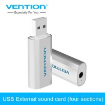 [globalbuy] Vention USB to 3.5mm Sound Card Mic Speaker 3D External Sounds Cards Adapter F/5360610