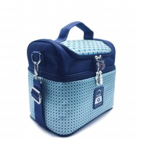Cooler bag Naimax Denver Spotted Navy / Free Ice gel Tas Pendingin Asi / TAS ASI COOLER BAG NAIMAX